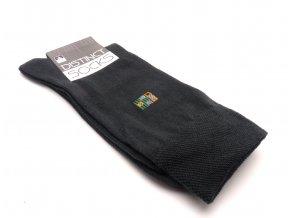 Ponožky distinct šedá- čtverec zelený