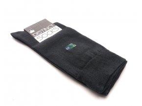 Ponožky distinct šedá- čtverec modrý