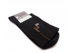 Ponožky distinct černá-  šnek