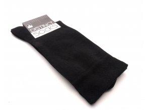 Ponožky distinct černá-  bez vzoru