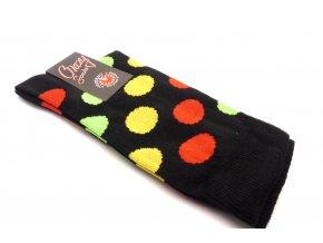 Ponožky kolečka velký - černý