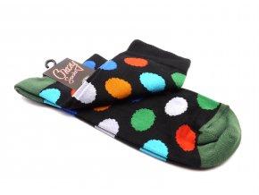 Ponožky kolečka velký - zelený