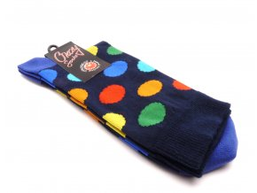 Ponožky kolečka velký - modrý