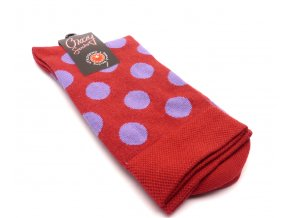Ponožky kolečka velký červený základ