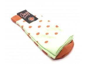 Ponožky kolečka malý - fosforový