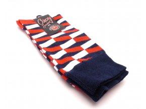 Ponožky cik cak červený