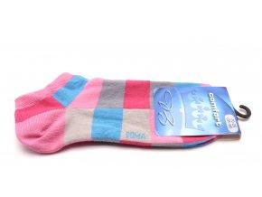 Ponožky Piki čtverec - růžová