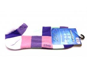 Ponožky Piki čtverec - fialová
