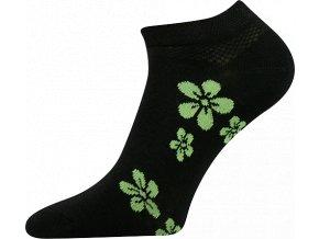 ponozky kytka zelena