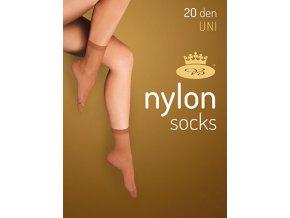Silonové ponožky Nylon 2 páry - černá