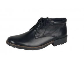 Pánská šněrovací elegantní obuv s pravým beránkem 16030-00