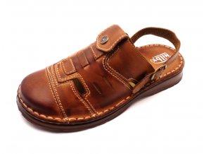 Pánské pohodlné pantofle s páskem za patu Hilby 045