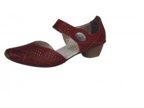 Dámská červená perforovaná obuv 49766-33
