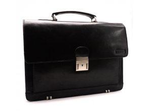 Pánská kožená taška 2079/T černá