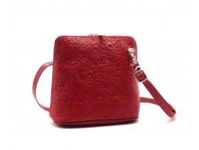 Kabelka 10-04 červená ornament