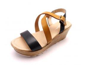 Dámské sandály na klínku 4254