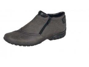 Dámská šedá obuv s kožíškem l4662-45
