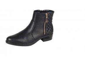 Dámská obuv se dvěma zipy 72654-00