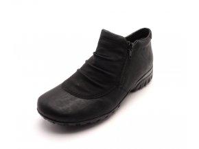 Dámská černá obuv s kožíškem L4691-01
