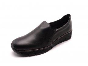 Dámské elegantní černé mokasíny 53766-00