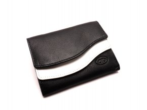 Dámská černo bílá peněženka x49551