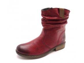 Dámská bordo kotníková obuv Z4180-35