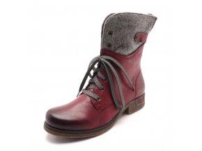 Dámská kotníková bordo obuv 79604-36