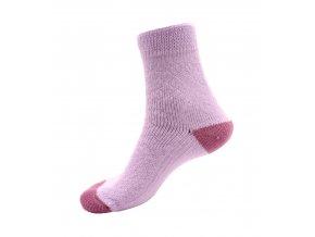 Ponožky Televizorky světle fialová