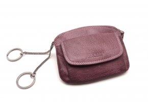 Peněženka s klíčenkou 786-382 PLUM