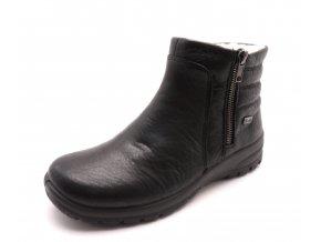 Dámské černé kotníkové boty Z7163-00