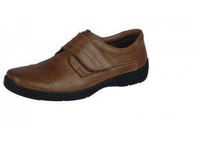Pánská obuv se suchým zipem přes nárt 15262-25