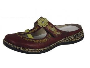 Dámské pohodlné pantofle s kytičkou 46338-35