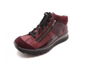 Dámské bordo kotníčkové boty M6243-35