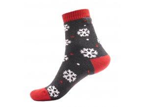 Zimní termo ponožky - Vločky šedá
