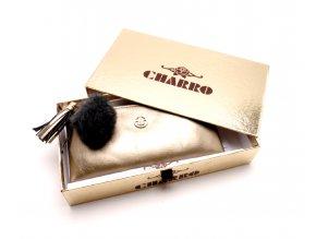 Zlatá peněženka s přihrádkou na mobil 53-03