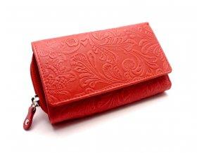 Dámská peněženka s ornamenty D41-37 LIGHT RED