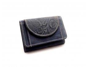 Dámská peněženka s ornamenty D919-36 BLUE