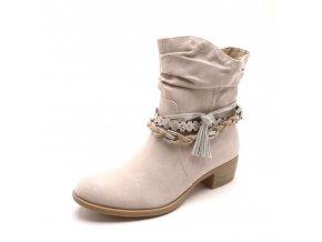 Dámská kotníčková béžová obuv 2-25316-30 dune comb