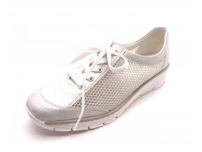 Dámské stříbrné tenisky na klínku 537P0-80