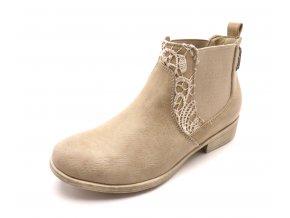 Dámská béžové elegantní kotníčková obuv LO751688044