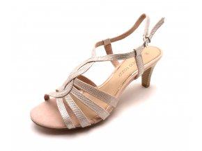 Dámské rose sandály na podpatku 2-28321-952
