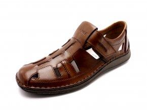 Pánské hnědé uzavřené sandály 05256-25