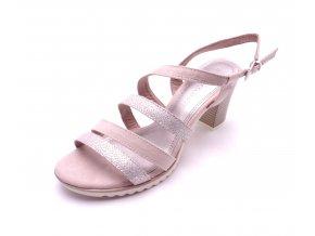 Dámské rose sandály na podpatku 2-28705-596