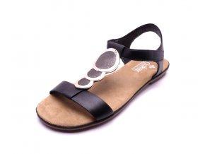 Dámské černé sandály 64278-00