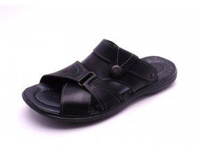 Pánské pohodlné kožené pantofle 727-247-024