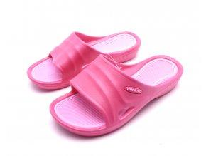 Dámské růžové gumové pantofle SU81749-1