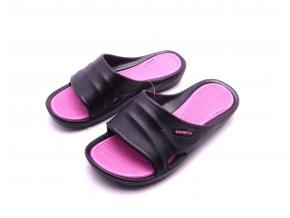 Dámské černé gumové pantofle SU81749-2