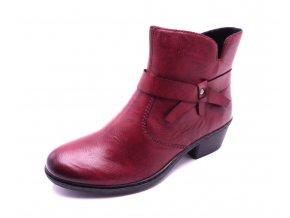 Dámské vínové kotníčkové boty 75553-35