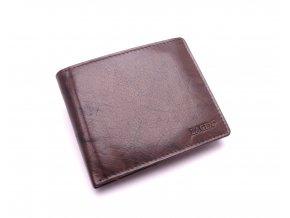 Pánská kožená peněženka V-75 DARK BROWN