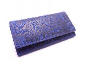Dámská peněženka s ornamenty W1264-36 BLUE